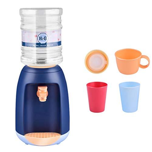TOYANDONA Küchengerät Spielzeug Wasserspender Kinderküche So Tun Als Ob Spielzeug Trinkbrunnen Spielzeug Set Lebensmittelspielzeug für Kinder Kinder Spielen (Blau)