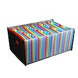 Carpeta de archivos expandible, Carpeta organizadora de archivos expandible Carpeta de documentos A4 de 13 capas / 37 capas / 48 capas / 60 capas para la oficina de la escuela