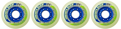Hyper Freestyle Rollen Concrete+G Inliner Rollen 84A Inline Skates Komponente 4-er Pack Leuchtet im Dunkeln, 76 mm, 72804