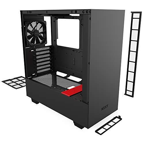 NZXT H510 - Case da gioco per PC mid-tower ATX/microATX/mini-ITX compatto - Porta Tipo C USB I/O frontale - Pannello laterale in vetro temperato - Compatibile con il raffreddamento a Liquido