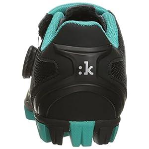 Fizik Women's M6 Donna BOA Mountain Cycling Shoes, Black/Anthracite/Emerald Green, Size 37.5 Black/Anthracite/Emerald Green
