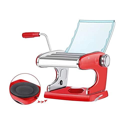 Máquina para Hacer Pasta, máquina para Fideos Máquina para Hacer Pasta Máquina para Hacer Pasta - 6 ajustes de Grosor - Máquina Manual para Hacer Pasta con 3 Cuchillas para Espaguetis Frescos y lasa