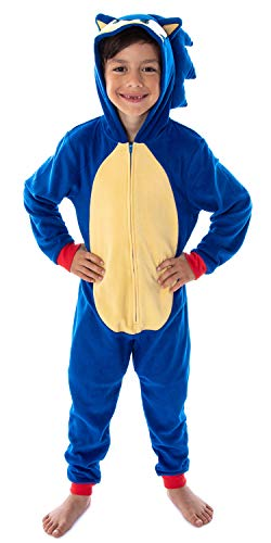 Seven Times Six Sonic The Hedgehog Boys' Video Game Character Costume One-Piece Union Suit Pajama Onesie (MD, 8)