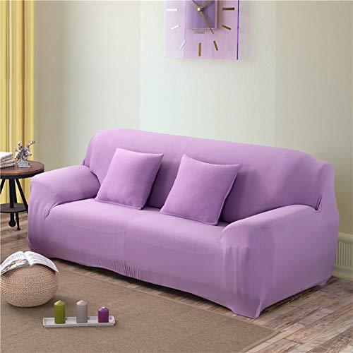 NOBCE Funda de sofá elástica seccional elástica para Sala de Estar Funda de sofá en Forma de L Funda de sillón de Esquina en Forma de L 1/2/3/4 plazas Morado Claro 90-140CM
