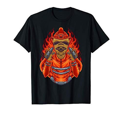 Halloween Zombie Firefighter Fireman Fire Department Brigade T-Shirt