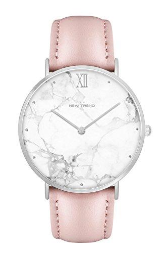New Trend - Love for Accessories Damen Uhr analog Quarzwerk mit Kunst-Leder Armband IL-3A7E-L1NF