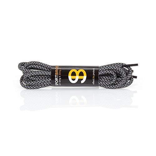 SPORTBROS® - 4 Paar Reflektierende Performance Schnürsenkel - Werde Besser gesehen und erhöhe Deine Sicherheit beim Sport und im Straßenverkehr (z.B. auf dem Schulweg/Arbeitsweg) - 120 x 0,4 x 0,4 cm