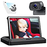 """Baby Car Mirror, Baby Car Camera 5""""Car Seat Mirror Rear Facing HD Infrared Night Vision Baby Mirror Car Back Seat, Infant Mirror For Car Baby Monitor with 150° Wide Angle Camera Cigarette Lighter"""