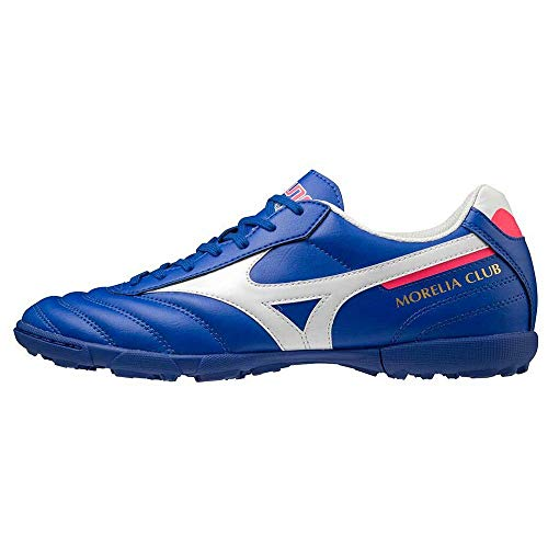 Mizuno Morelia II Club AS (Turf), Bota de fútbol, Reflex Blue-White, Talla 7.5 US (40 EU)