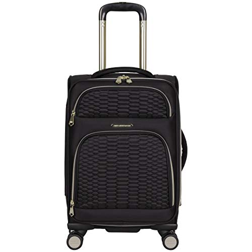 Aimee Kestenberg Women's Florence 20' Softside Expandable 8-Wheel Carry-On Suitcase, Black, Inch