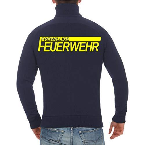 Spaß kostet Männer und Herren Jacke Sweatjacke FFW Freiwillige Feuerwehr (mit Rückendruck) Größe M bis 5XL