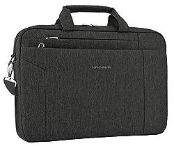 small KROSER laptop bag 15.6 inch briefcase shoulder bag water repellent laptop bag tablet bag…
