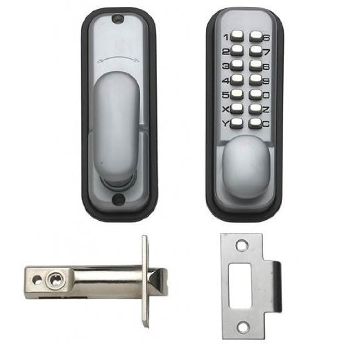 HOPPE 87128205 Arrone AR/D-195mc Digital Push Button Verrouillage de Porte Key Pad – Argent
