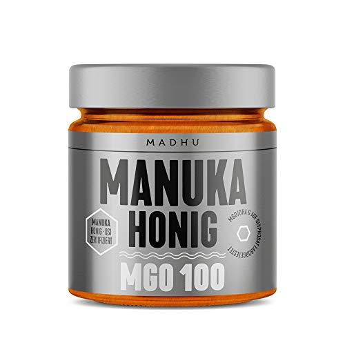 Manuka Honig 100 MGO im hochwertigen Glas - Direkt vom Imker aus Neuseeland - zertifizierter Methylglyoxal-Gehalt (500g)