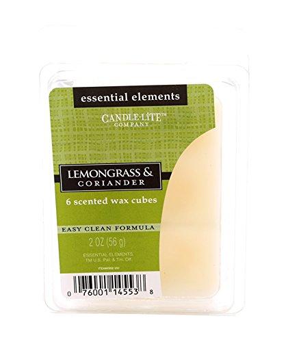 Candle-lite - Duftwachswürfel, Lemongrass & Coriander 56g, Weiß, 7.5 x 10.5 x 11 cm