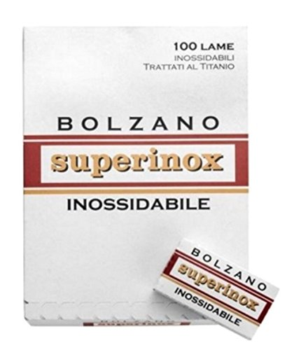 100 Cuchillas de afeitar Bolzano Superinox Inossidabile