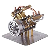 Zhengowen Modelo de Juguete de Motor Mini Mini-Steam-Steam Miniature Steam Motor Modelo sin Caldera Modelo de Juguete Motorizado para Niños (Color : Gold, Size : One Size)