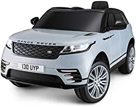 Kid Trax Electric Kids Luxury Range Rover Car Ride-On Toy, 6 Volt Battery, Remote Control, Ages 3-5 Years, Silver