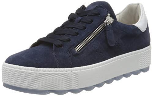 Gabor Shoes Damen Comfort Basic Sneaker, Blau (Marine/Weiss 46), 44 EU