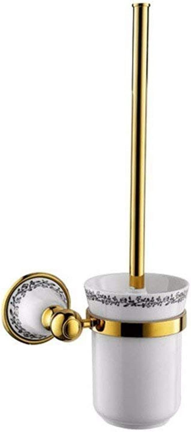 Small Cu Around The Base of The gold Ceramic Bathroom Acc Box Kit to soap, Paper Towels Toilet Toilet Brush