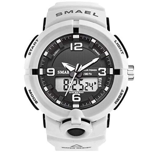 Hombres Mujeres reloj del deporte, 50M impermeable reloj deportivo digital analógico, multifunción hora dual Pantalla Casual Male cronógrafo de cuarzo reloj de pulsera con correa de negocios fengong