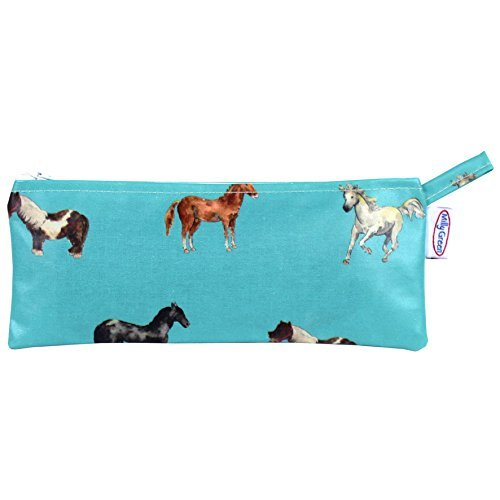 Milly Green Trousse à crayons Motif cheval Bleu sarcelle
