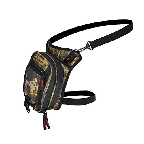 Sharplace CUCYMA Sac Banane Moto Imperméable Unisexe Cuisse Jambe Sacs Chevalier Taille Fanny Pack - Camo, 22 x 25 x 7cm