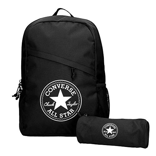 Converse Schoolpack XL Backpack Unisex Set Black 45GXB90, Farben:Schwarz