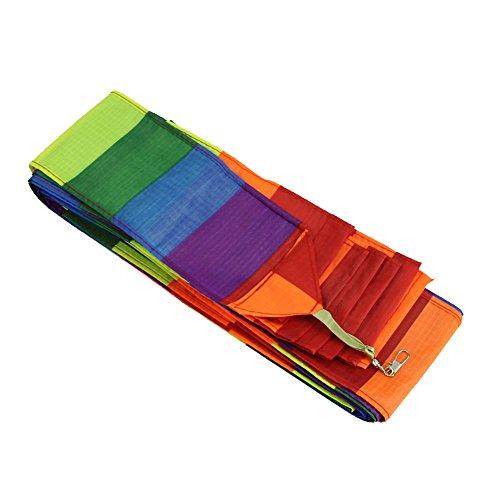 SODIAL Super Nylon Lenkdrachen Schwanz Regenbogen Linie Kite Zubehoer Kinder Spielzeug