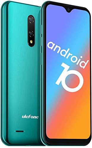 2020 携帯電話ロック解除、Ulefone Note 8P 4GスマートフォンSIMフリーロック解除、Android 10 GO、2GB RAM 16GB ROM、5.5インチ水滴フルスクリーン、トリプルカードスロット、デュアルカメラ (緑)