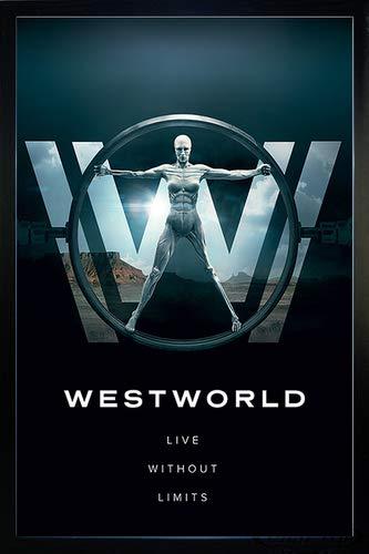 Close Up Westworld Poster Live Without Limits (66x96,5 cm) gerahmt in: Rahmen schwarz