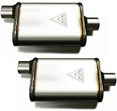 Pair of two 2 1/2 High Flow Dual Chamber Performace Mufflers 2.5