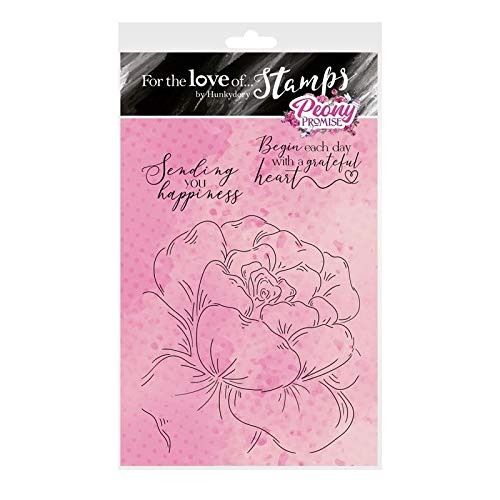Hunkydory Crafts Peony Promise A6 Stamp Set