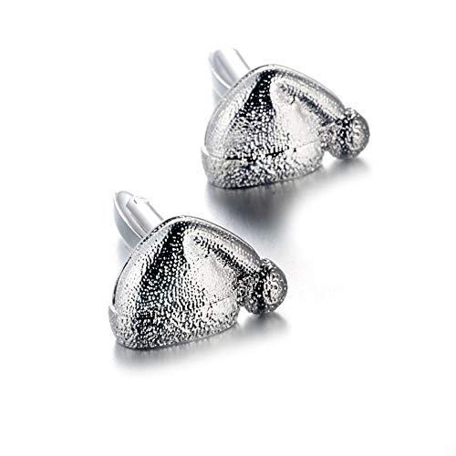AYDOME Manschettenknöpfe Elegant Weihnachtsmütze Hemd mit Manschettenknöpfe Set Herren Manschettenknöpfe In Silber