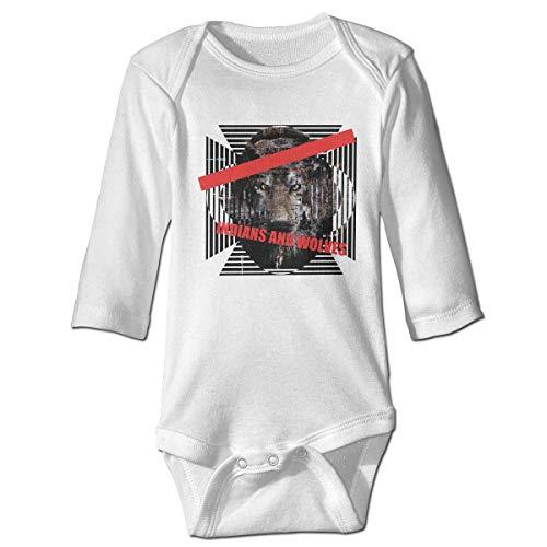 Klotr Babyspielanzug, Indians and Wolves Belief Faith Dangerous Unisex Langarm Baumwolle Body Spielanzug Strampler Kleidung