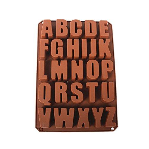 Musuntas 26lettere inglesi cioccolato forme silicone sapone forma candela forme cucina Baking Carino Spielzeug stampo in silicone a forma di cioccolato fondente 34*22.5*2.5cm