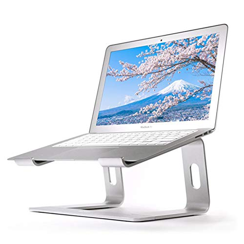 WUBAILI Laptop Stand,10-15.6' Aluminum Laptop Riser, Ventilated Notebook Stand Compatible for Macbook Pro/Air, HP, Dell, Lenovo, Samsung, Acer, HUAWEI Matebook,Silver