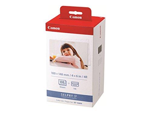Canon Papier KP-108IN, 108 Blatt 10x15 mit Farbkartusche