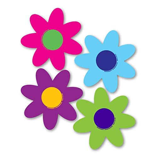 Magnet America Set of 4 Bright Flower Pack