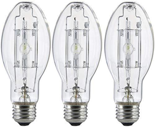 3 Pack MP100 U MED 100 Watt Metal Halide ED17 Bulb Medium Base Clear Metal Halide Bulb 100W product image