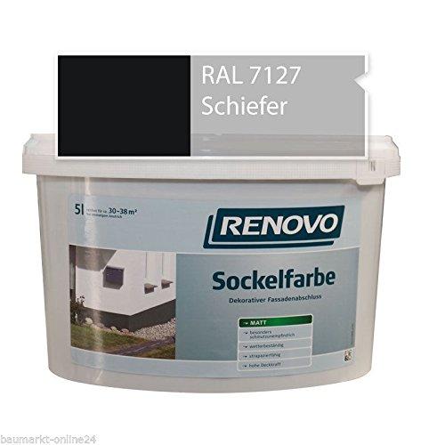 Sockelfarbe 7127 Schiefer 5 L Fassadenfarbe Renovo