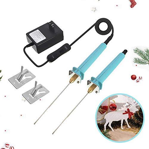 2 Pack 572°F Electric Foam Cutter,Hot Wire Hot Knife Styrofoam Cutter Sculpting Tool 4' Foam Cutting Pen for Polyethylene EVA Foam Carving DIY Crafts