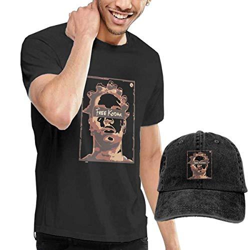 Baostic Herren Kurzarmshirt Men's Black Short Sleeve Shirts, Funny Ko Dak-Black Casual T Shirt - Dad Baseball Cap