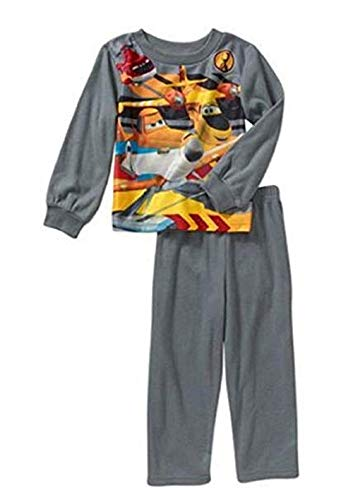 Disney Fire and Rescue Planes Flannel Pajama Set, Size 4T Blue