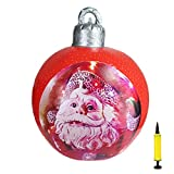 Decoración navideña exterior Pelota inflable,bolas de Navidad inflables gigantes 60cm para el hogar, bodas, Navidad, fiestas, Navidad, Navidad, bolas de Navidad, fiestas y adornos de fiesta, con bomba