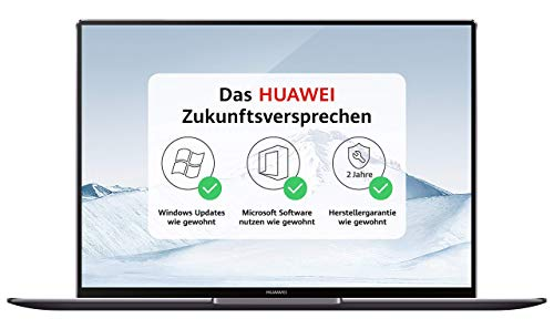 HUAWEI MateBook X Pro 35,31 cm (13,9 Zoll 3K-FullView-Touchscreen-Display) Notebook (Intel Core i7-8550U, 16 GB RAM, 512GB SSD, NVIDIA GeForce MX150 mit 2GB GDDR5, Windows 10 Home) grau
