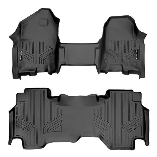 SMARTLINER Custom Floor Mats 2 Row Liner Set (Both Rows 1pc) Black for 2019-2021 Ram 1500 Quad Cab...