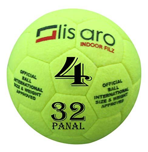 Lisaro Indoor Filz Hallenfußball Gr. 4 | Hallenball | Indoorfußball | Spielball der Extraklasse