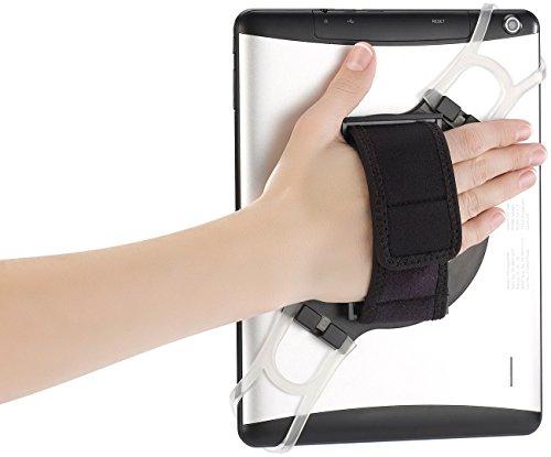Callstel iPad Halter: 2in1-Tablet-Halterung mit Handschlaufe & Ständer für Tablets 7-11,9