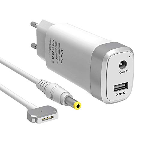 MacBook Pro Ladegerät 60W, Mini Ersatz Magsafe 2 Magnetische T-Spitze Power Adapter Charger, Tragbares Netzteil kompatibel mit Apple MacBook Pro mit 13-Zoll Retina Display (ab Ende 2012)